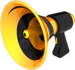 Megaphone news message propaganda symbol of agitation