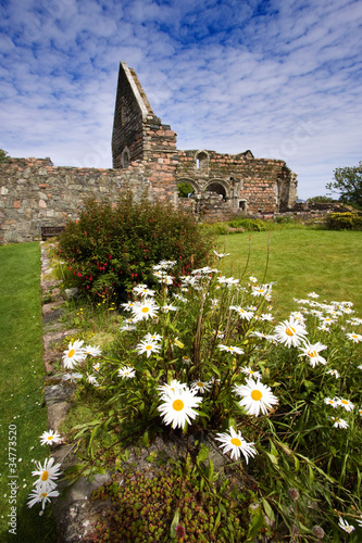 Iona Nunnery ruins in the Inner Hebrides of Scotland.