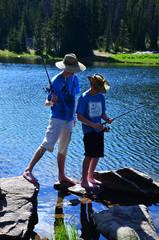 Two Teenage Boys Fishing