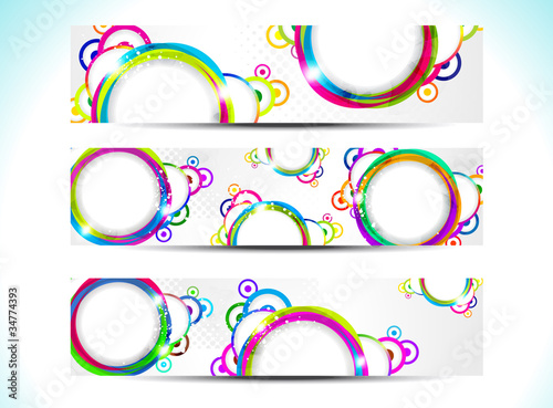 abstract colorul web banner