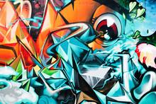 """Постер, картина, фотообои """"Abstract Graffiti detail on the textured wall"""""""