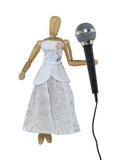 Woman with Audio Microphone