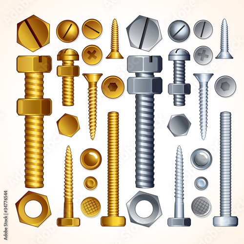 Isolated Screws, Bolts and Rivets