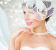 Bride portrait. Wedding dress