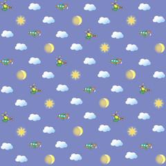 Бесшовное изображение небо