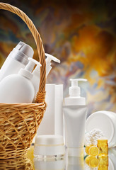 composition of skincare items