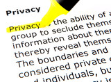 Privacy poster