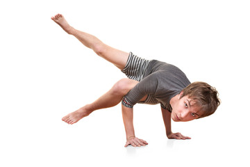 Young Man Does Yogasana