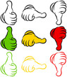 Thumb Up, Middle & Down