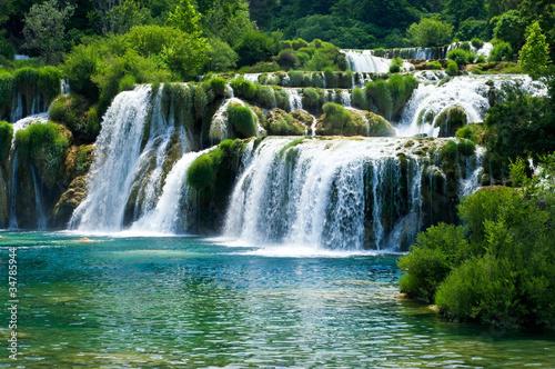 Fototapeten,cascade,wasserfall,kroatien,rivers