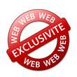 Tampon EXCLUSIVITE WEB (offre spéciale exclusif internet rouge)