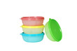 colorfull plastic containers