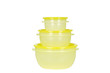 yellow plastic containers