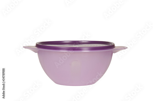 purple plastic container