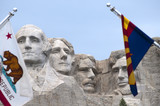 Mount Rushmore with faces of American Presidents Dakota poster