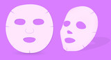 vector skin mask isolated on violet background