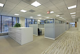 Office area with cubicles - 34791545