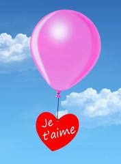 "Ballon ""Je t'aime"""