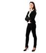 Smiling full length businesswoman