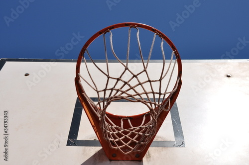 Poster Basketballkorb