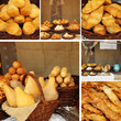 collage with famous oscypek, traditional polish cheese