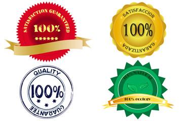 Etiquetas de garantia de calidad