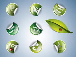 bio and eco stickers