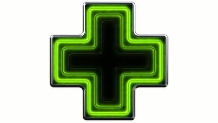 Chemist's neon sign 3D - Insegna luminosa farmacia