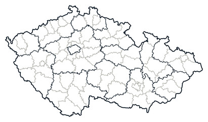 Czech republic vector map.