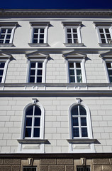 Windows on old style builidng facade