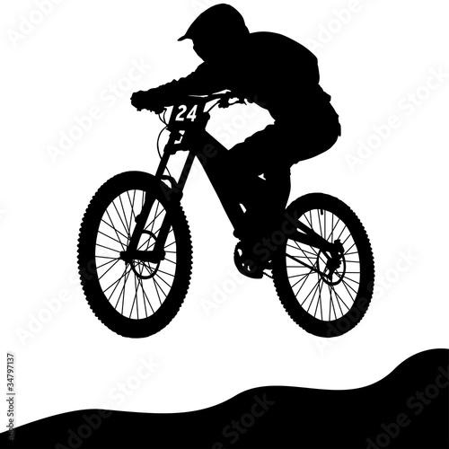 Fototapeta Mountainbike Downhill