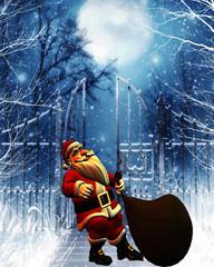 Santa Claus bei der Arbeit