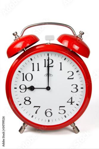 Wecker 9 Uhr / Nine a clock