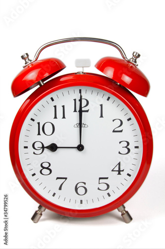 Leinwandbild Motiv Wecker 9 Uhr / Nine a clock