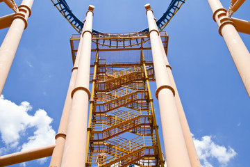 roller coaster central view