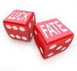 Luck and Fate - Two Red Dice Gambling Your Future