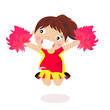 Girl Cheerleader - Vector