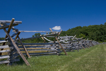 Split Rail Fence Near Forest
