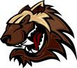 Wolverine Badger Mascot Head Illustration