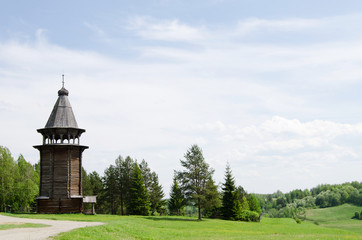 Wooden churches in the north Russia