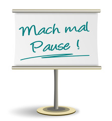 Flipchart Pause
