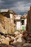 The rubble of the earthquake in Abruzzo (Italy) poster