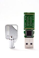 key and USB flash card