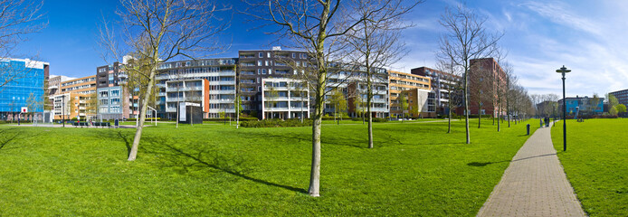 modern residential area of Amsterdam. Park