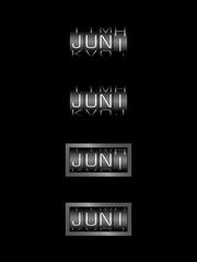 JUNI counter calendar - deutsch monat