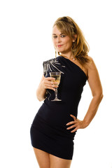 Party dress and wine