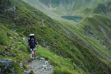 Trekking in Fagaras Mountains, Southern Carpathians, Romania