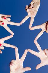Stern aus Händen