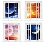 Collection of space windows