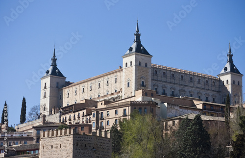 View of the Alcazar Castle and the Old Town of Toledo, Spain